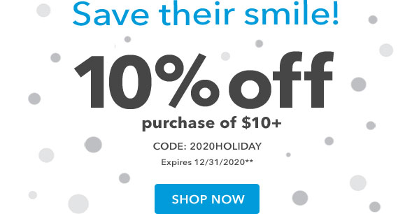 Limited-time offer! 10% off purchase of $10+ with code 2020HOLIDAY. Expires 12/11/2020